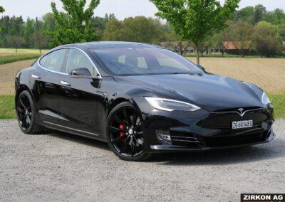 TESLA Model S P100DL Felgen schwarz 08