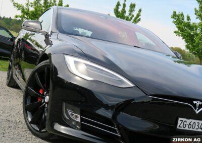TESLA Model S P100DL Felgen schwarz 11